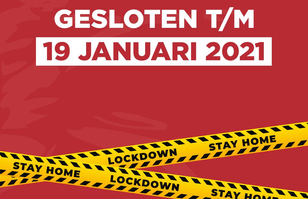 Gesloten | lockdown | Coronel Sports Bunnik