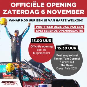 Officiële opening Coronel Sports Bunnik 6 november 2021
